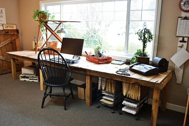 Escritorio de palets para oficina